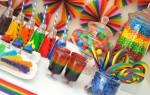 Цветная вечеринка (Радуга)